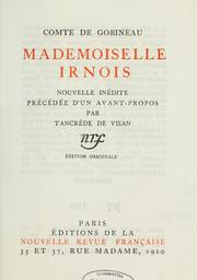 Cover of: Mademoiselle Irnois