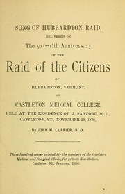 Cover of: Song of Hubbardton raid