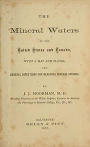 Cover of: The mineral waters of the United States and Canada