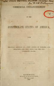 Cover of: Commercial enfranchisement of the Confederate States of America