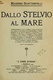 Cover of: Dallo Stelvio al mare