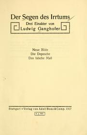 Cover of: Der Segen des Irrtums