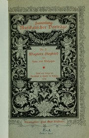 Cover of: Wagners Siegfried