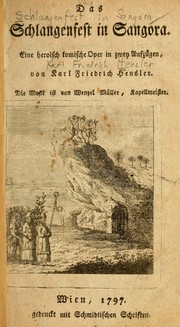 Cover of: Das Schlangenfest in Sangora