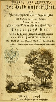 Cover of: Eugen, der Zweyte, der Held unsrer Zeit