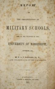 Cover of: Report on the organization of military schools
