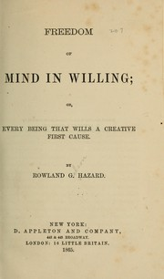 Cover of: Freedom of mind