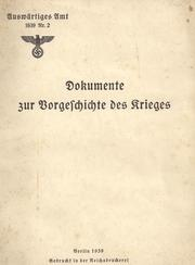 Cover of: Documents concerning the last phase of the German-Polish crisis