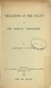 Cover of: Skeletons at the feast, or, The radical programme