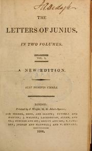 Cover of: The letters of Junius