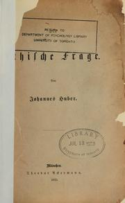 Cover of: Ethische Frage