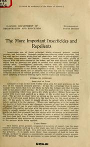 Cover of: The more important insecticides and repellents