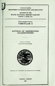 Cover of: Method of destroying grasshoppers
