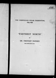 "Cover of: Fridtjof Nansen's ""Farthest north"""