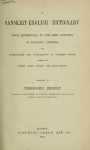 Cover of: A Sanskrit-English dictionary