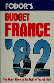 Cover of: Fodor's budget France '82