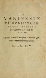 Cover of: Le manifeste de Monsievr le Prince