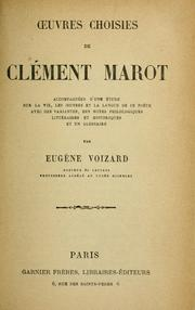 Cover of: Oeuvres choisies de Clement Marot