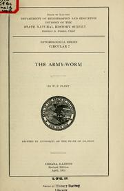 Cover of: The army-worm