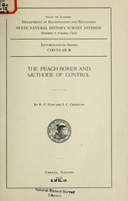 Cover of: The peach borer and methods of control