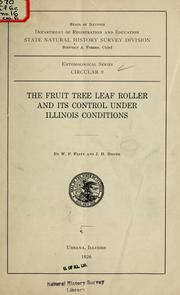 Cover of: The fruit tree leaf roller and its control under Illinois conditions