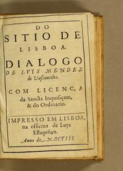 Cover of: Do sitio de Lisboa