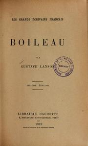 Cover of: Boileau