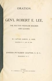 Cover of: Gen'l Robert E. Lee, the South's peerless soldier and leader
