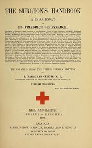 Cover of: The surgeon's handbook