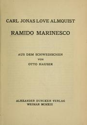 Cover of: Ramido Marinesco