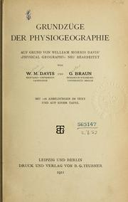 Cover of: Grundzüge der Physiogeographie