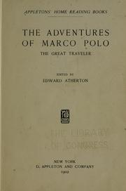 Cover of: The adventures of Marco Polo, the great traveler
