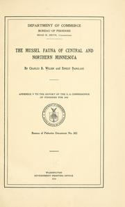 Cover of: The mussel fauna of central and northern Minnesota