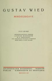 Cover of: Mindeudgave