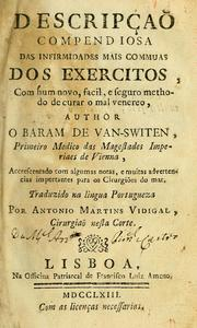 Cover of: Descripçaõ compendiosa das infirmidades mais commuas dos exercitos