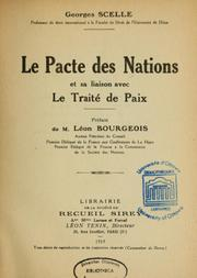 Cover of: L'élaboration du Pacte.  (The making of Covenant)
