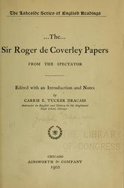 Cover of: The Sir Roger de Coverley papers, from the Spectator