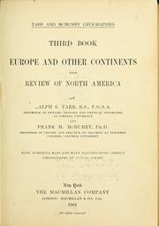 Cover of: Europe and other continents