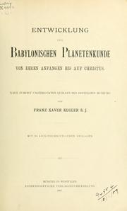 Cover of: Sternkunde und Sterndienst in Babel