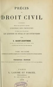 Cover of: Précis de droit civil