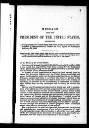 Cover of: Message from the president of the United States