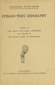Cover of: Introductory geography