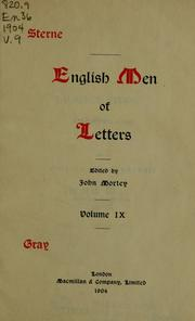Cover of: English men of letters