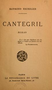 Cover of: Cantegril