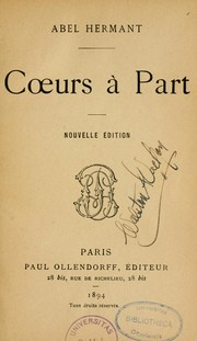 Cover of: Coeurs à part