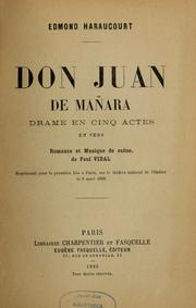 Cover of: Don Juan de Mañara