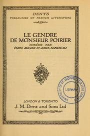Cover of: Le gendre de Monsieur Poirier