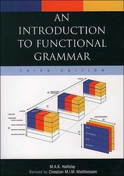Cover of: An Introduction to Functional grammar