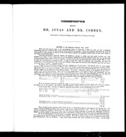 Cover of: Correspondence between Mr. Jonas and Mr. Cobden