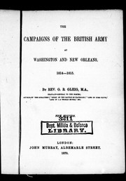 Cover of: The campaigns of the British army at Washington and New Orleans, 1814-1815
